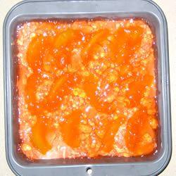 Peaches 'n' Cream Gelatin Dessert Elisa Sue