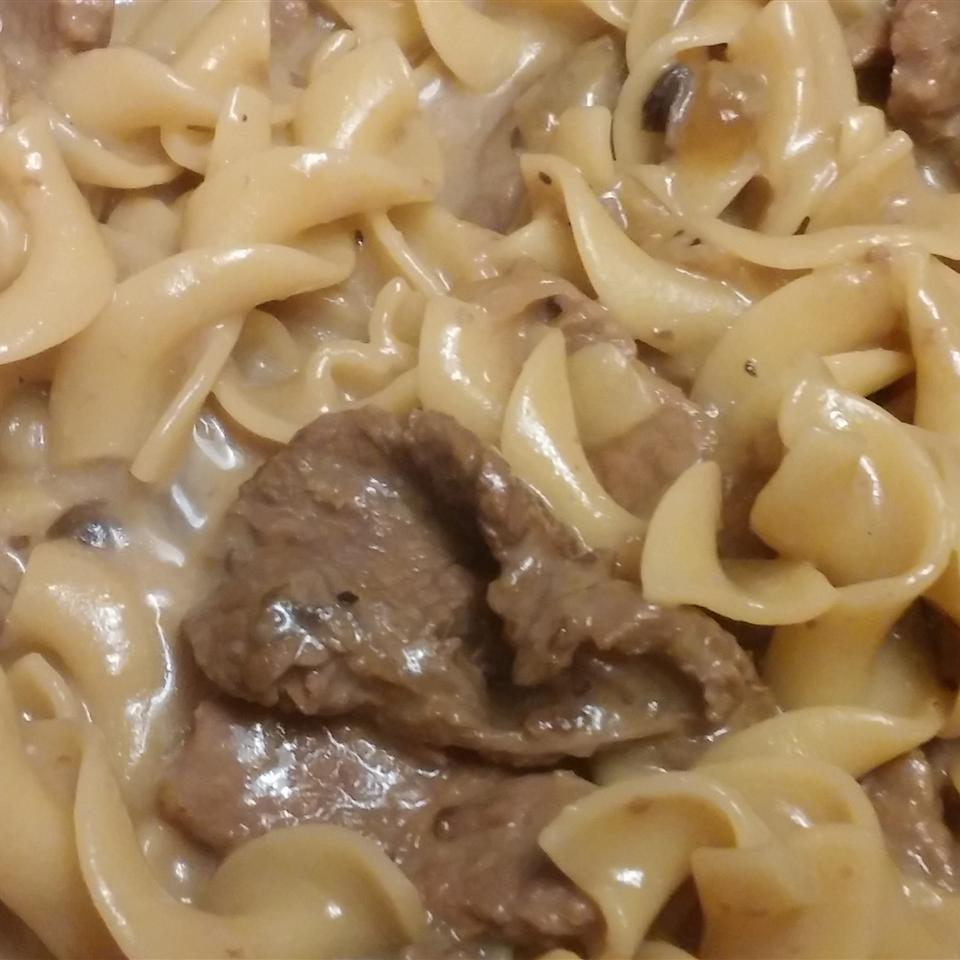 Creamy Beef Tips with Egg Noodles Karen