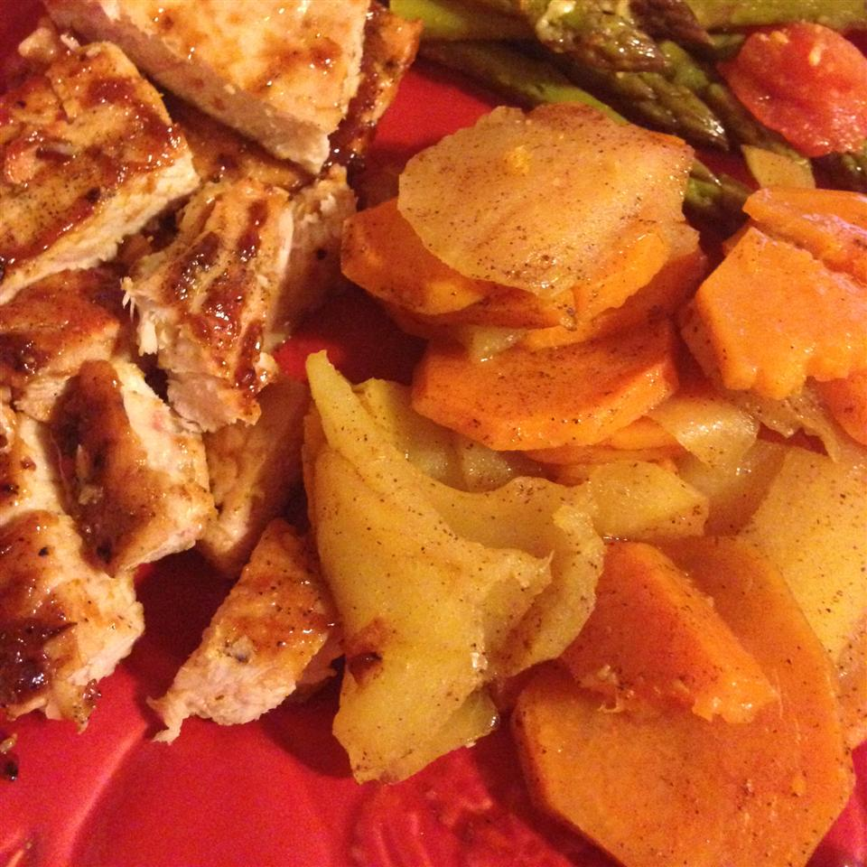 Grilled Sweet Potatoes with Apples Catherine Farran