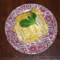 Roasted Butternut Squash and Garlic Lasagna Orcashottie