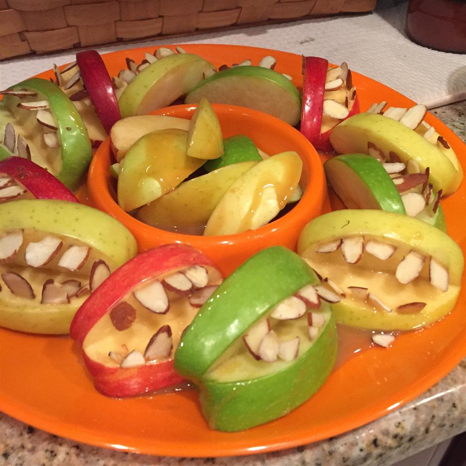 Halloween Fruit Apple Teeth Treats Michelle Suarez