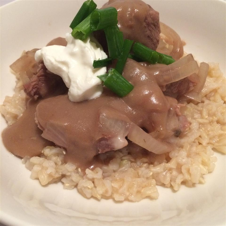 Slow Cooker Beef Tips and Rice