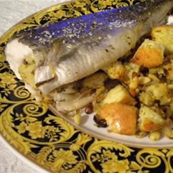 Oven Roasted Trout with Lemon Dill Stuffing smavitz