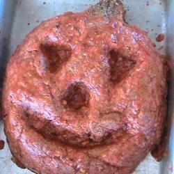 Halloween Jack-O'-Lantern Meatloaf
