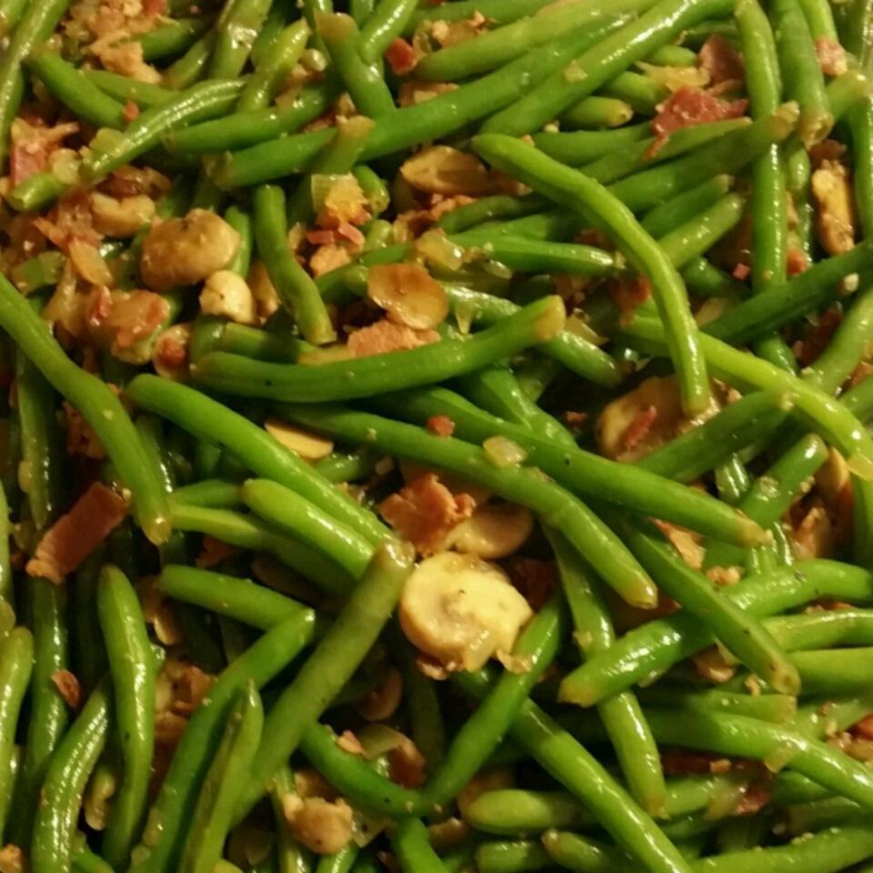 Mushroom and Bacon Green Beans The Angel R.