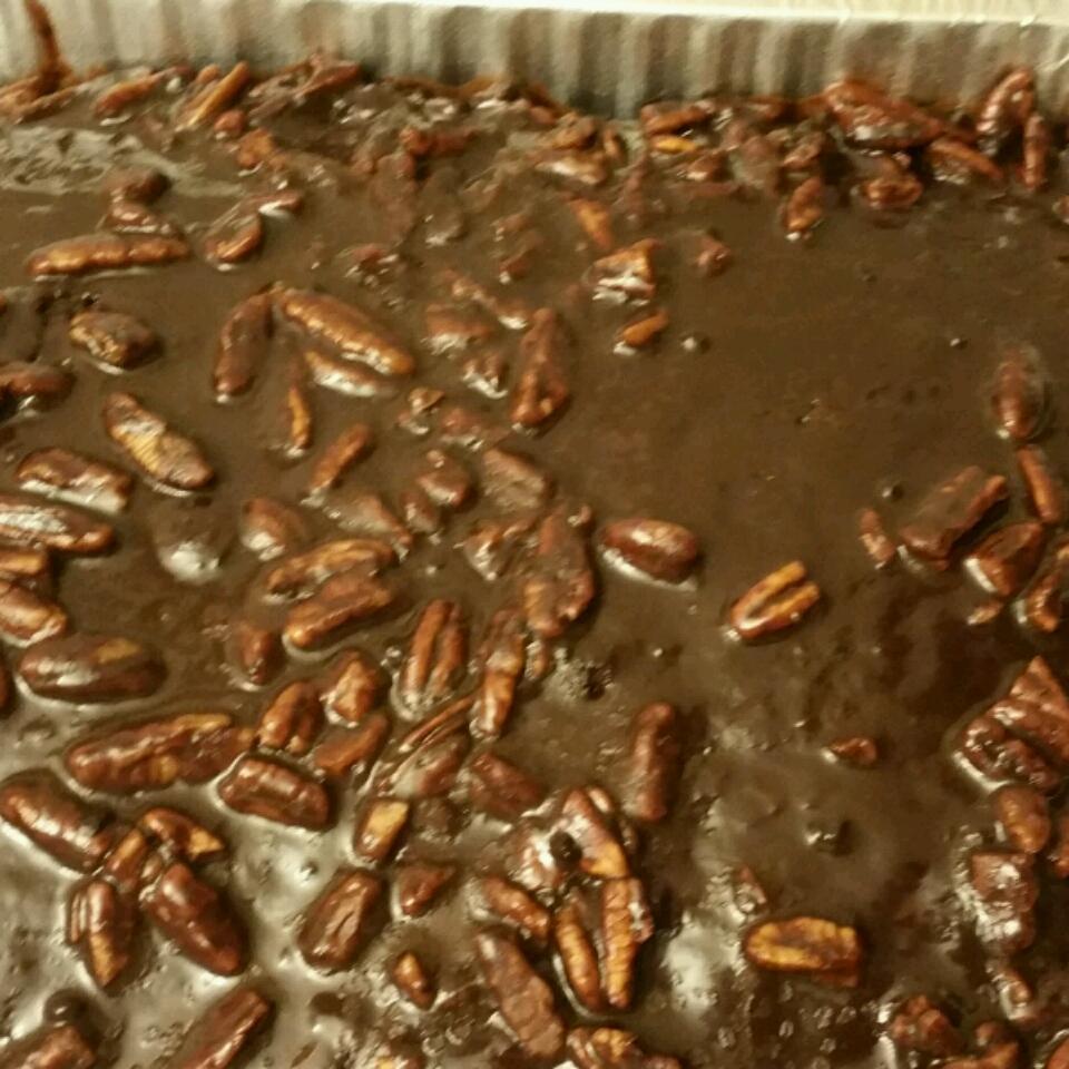 Old Southern Chocolate Pecan Sheet Cake Ladydi
