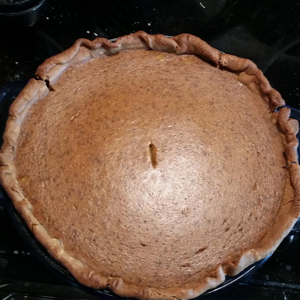 """If traditional pumpkin pie is too mild for your taste, try this spicy version with cinnamon, nutmeg, ginger, and cloves. """"The flavor of this recipe is perfect,"""" says reviewer AngieM. """"This is what pumpkin pie is supposed to taste like! I tried this once with canned pumpkin and again another time with fresh pumpkin, and it turned out terrific both ways!"""""""