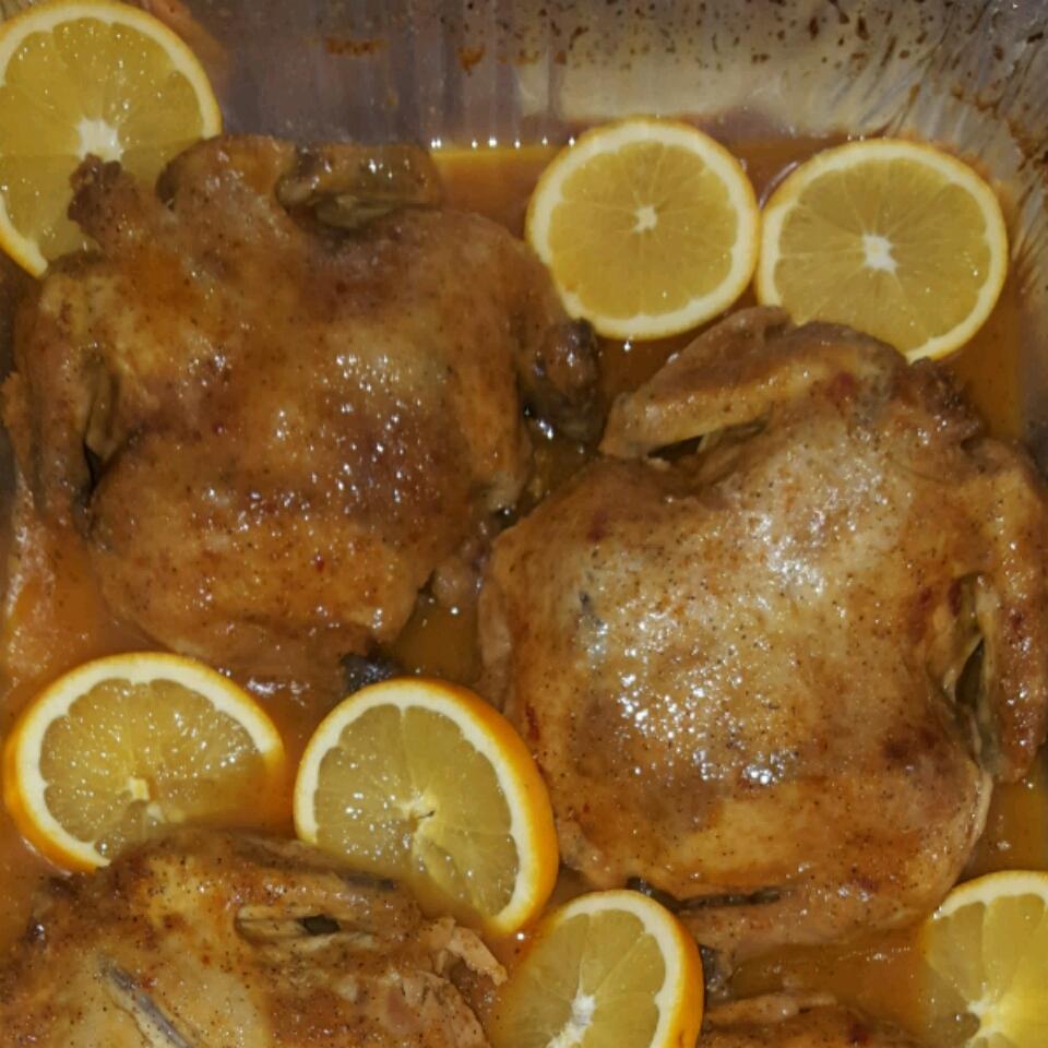 Orange Cornish Hen for Two