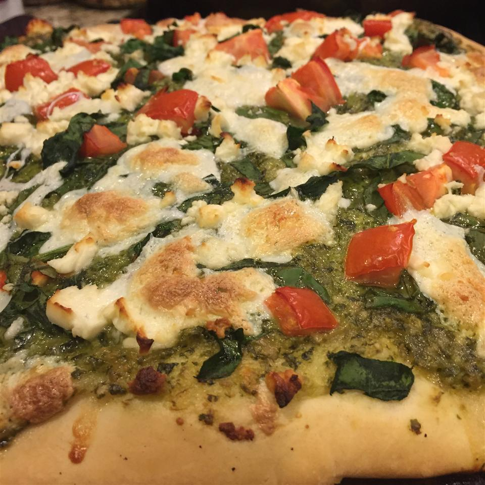 Fresh Pesto Pizza Maryam Fathy