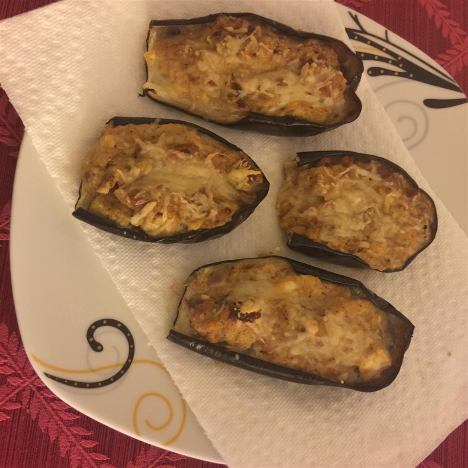 Eggplant Stuffed with Lamb and Feta Intisar