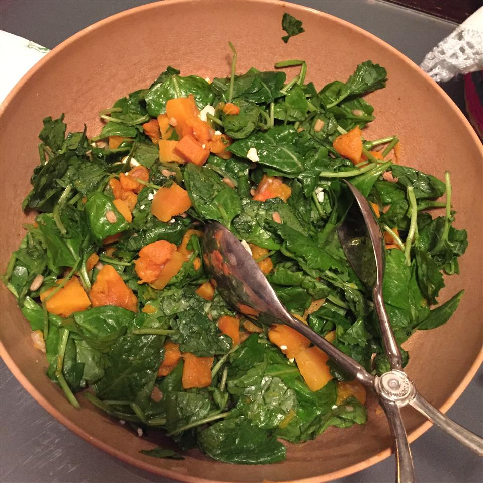 Autumn Butternut and Kale Salad with Maple Vinaigrette