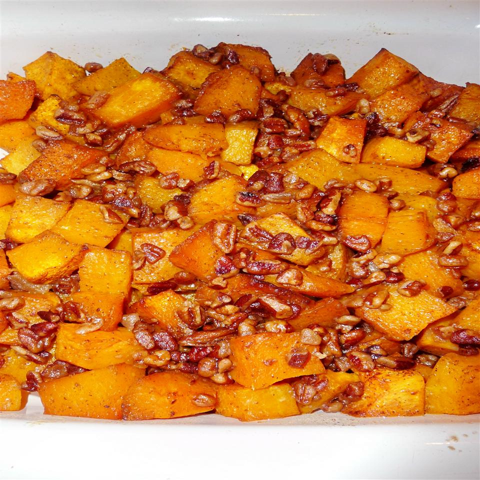Roasted Butternut Squash with Brown Sugar