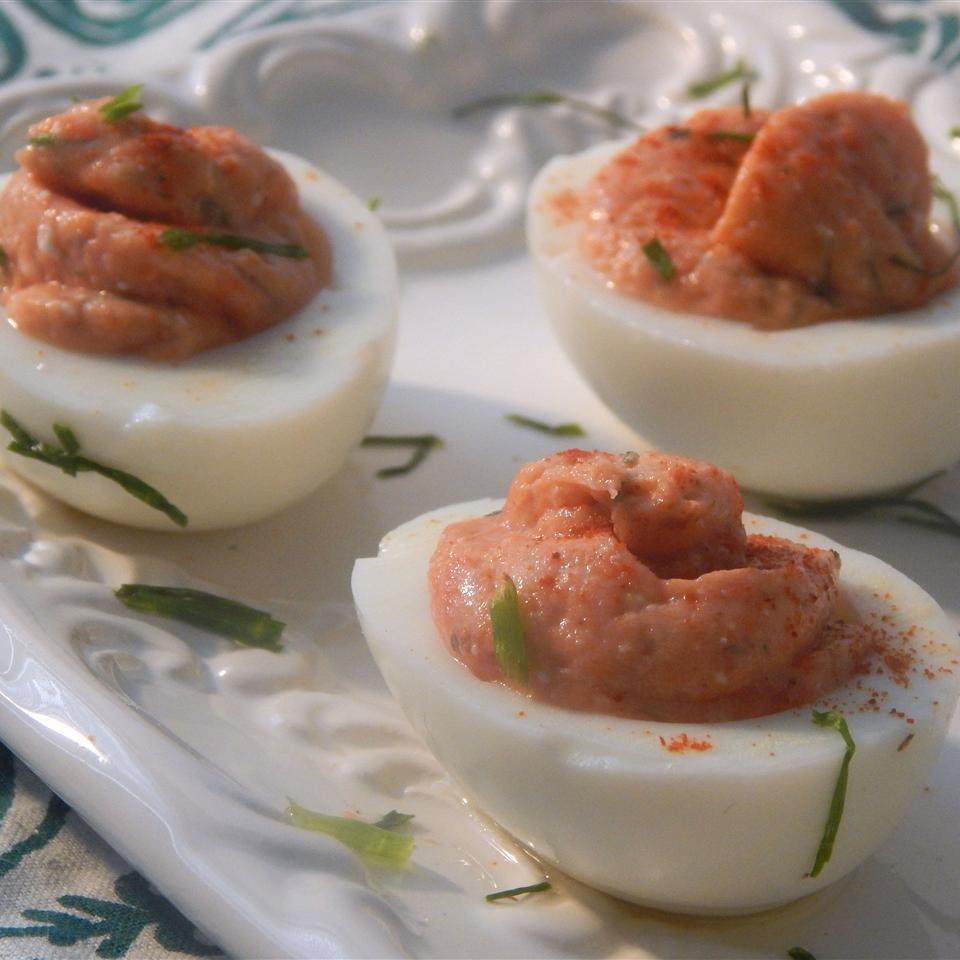 Easy Smoked Salmon Deviled Eggs