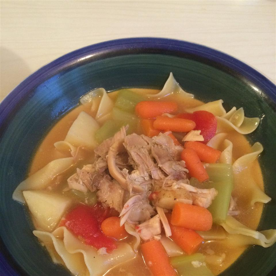 Hearty Turkey Soup with Parsley Dumplings