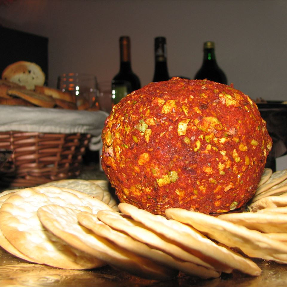 Fantastic Gorgonzola and White Wine Cheese Ball zoey alexis