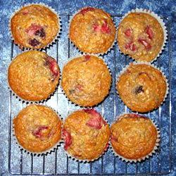 Strawberry Oat Muffins Kasia