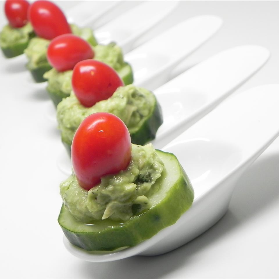 Avocado Basil Cucumber Bites