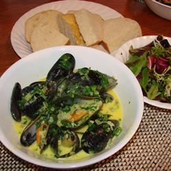 Mussels in Curry Cream Sauce DENA
