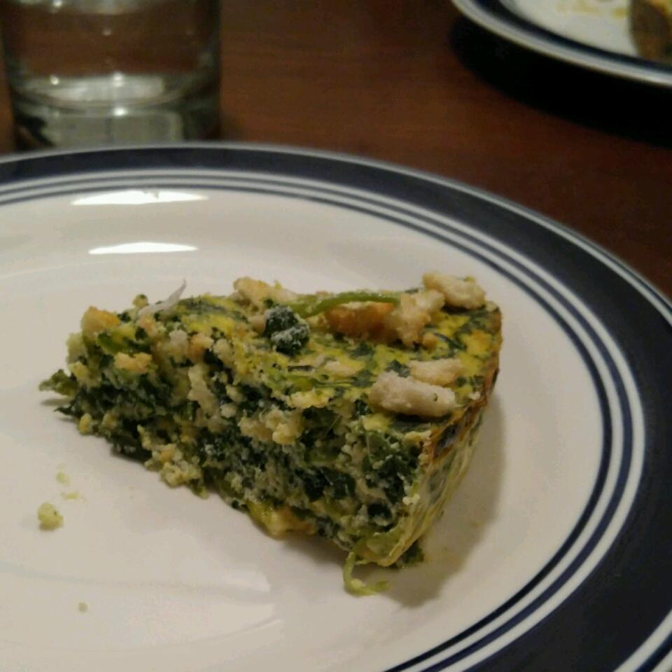Spinach Quiche with Cottage Cheese Erin Smith