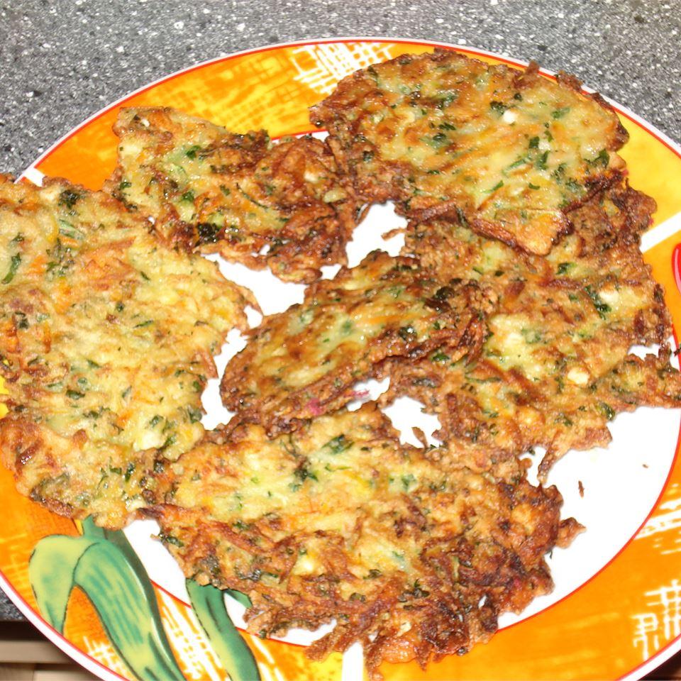 Vegetable and Feta Latkes Babzil
