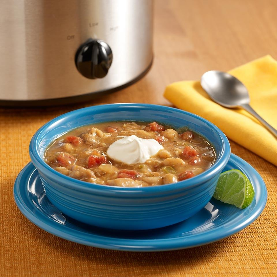 Slow Cooker White Chicken Chili from RO*TEL