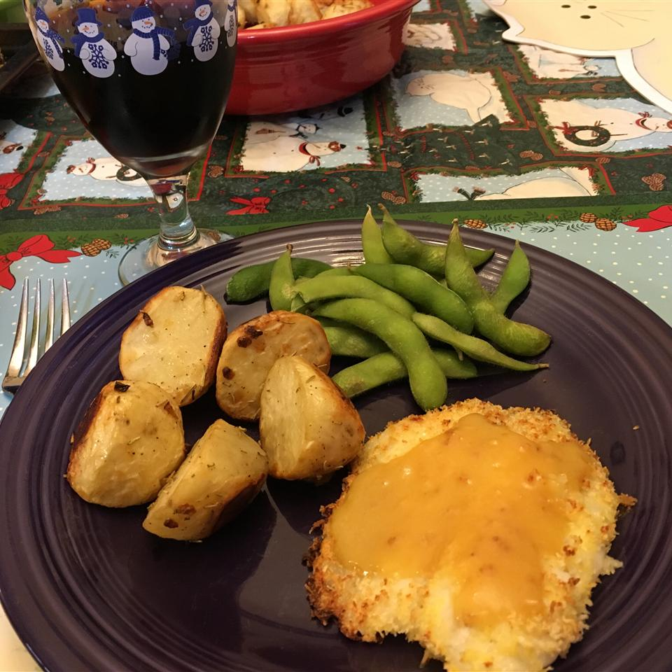 Crusted Salmon with Honey-Mustard Sauce MMMICHELLE