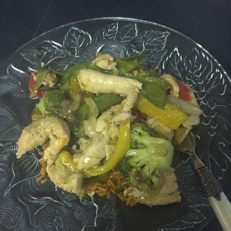 Orange Chicken and Vegetable Stir-Fry Crystal Rowe