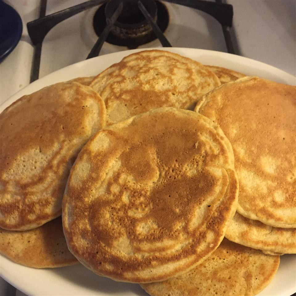Fluffy Pancakes with Wheat Germ and Applesauce beverly