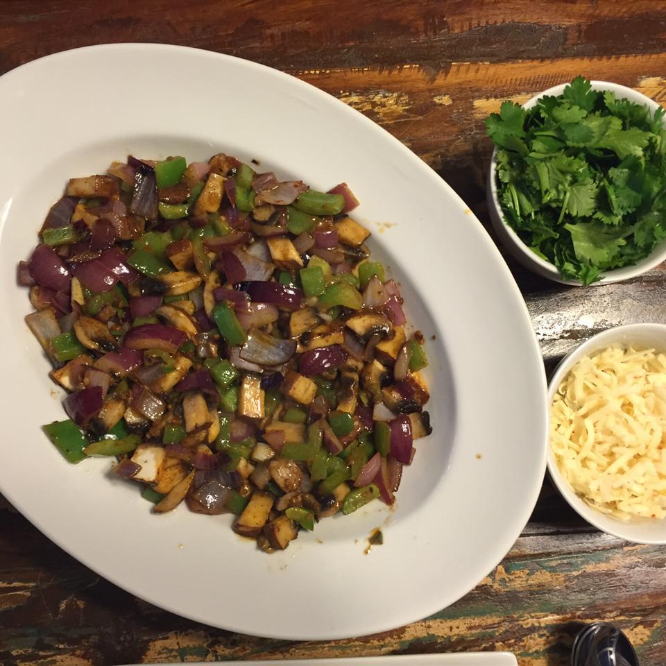 Mushroom and Onion Vegetarian Tacos mootsie tootsie