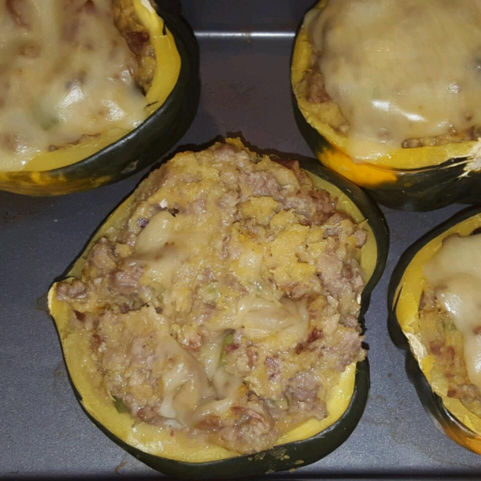 Baked Stuffed Winter Squash samantha burkhalter