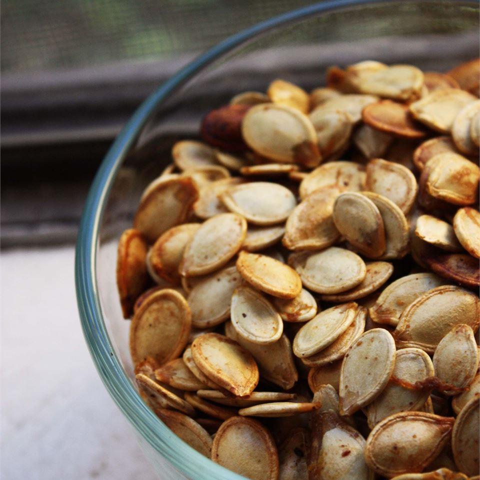 Savory Toasted Pumpkin Seeds