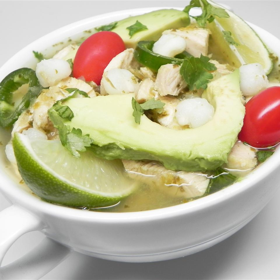 Chicken Posole Verde Soup