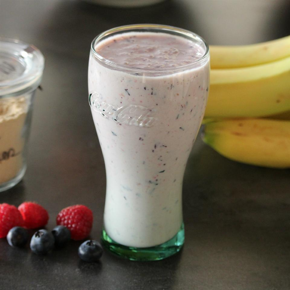 Black and Blueberry Smoothie