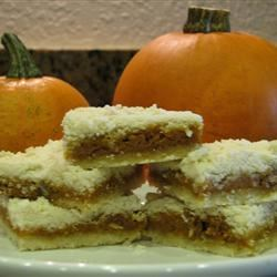 Pumpkin Shortbread Bars momofthreekids