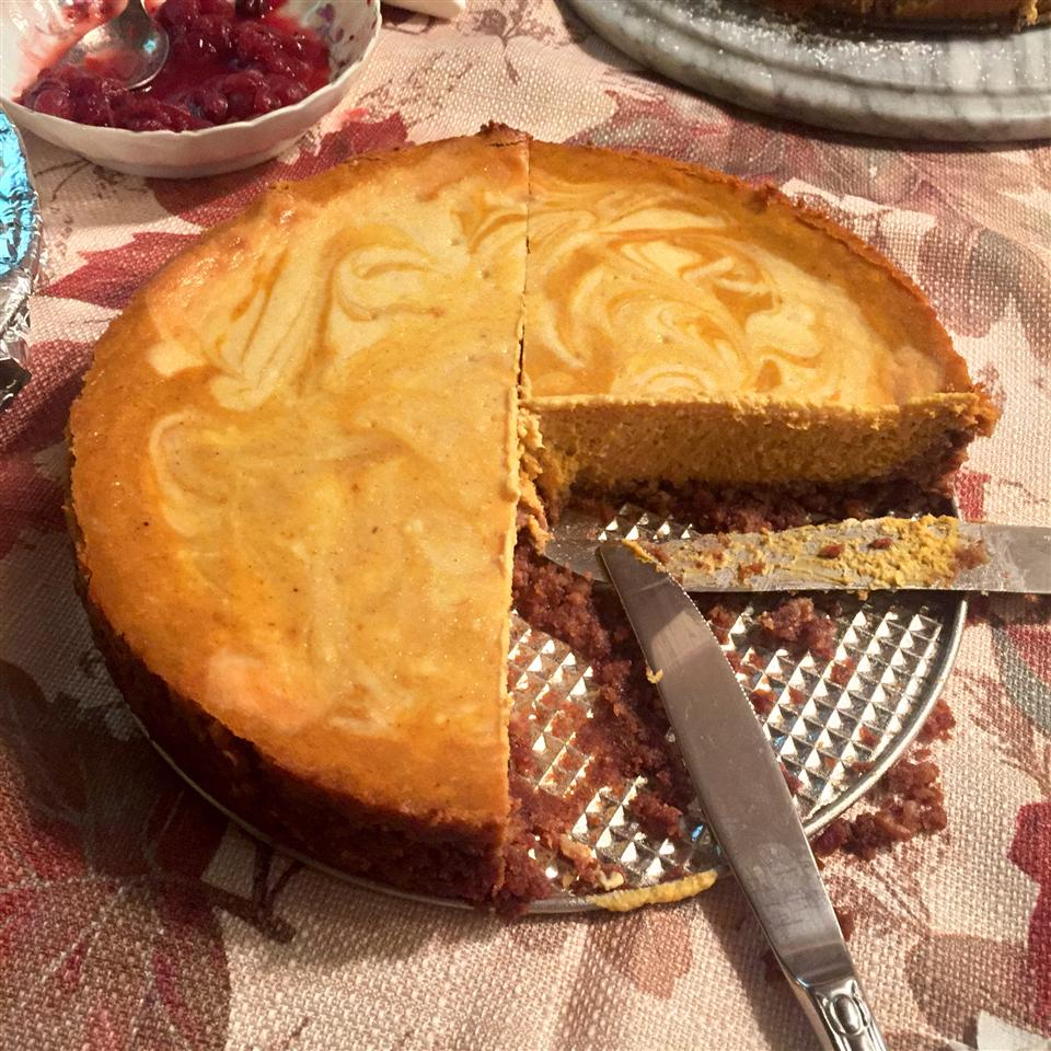 Marbled Pumpkin Cheesecake Teenie Krank