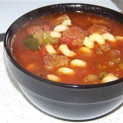 Meatball and Pasta Soup SHEREEB