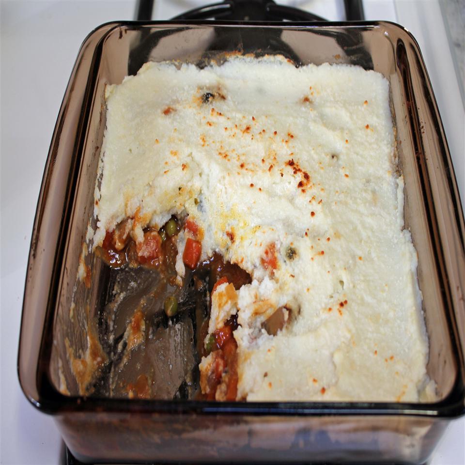 Vegetarian Shepherd's Pie with Mashed Cauliflower
