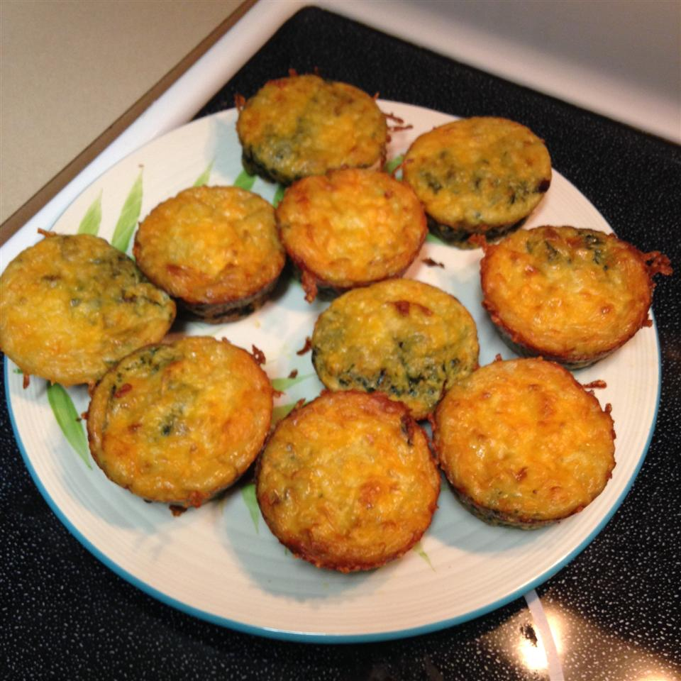 Low-Carb Bacon Spinach Egg Cups Tonia Witherspoon