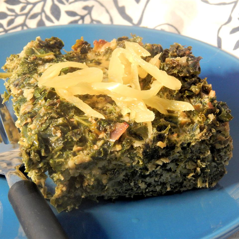 Kale Cakes with Sweet Hot Peppers