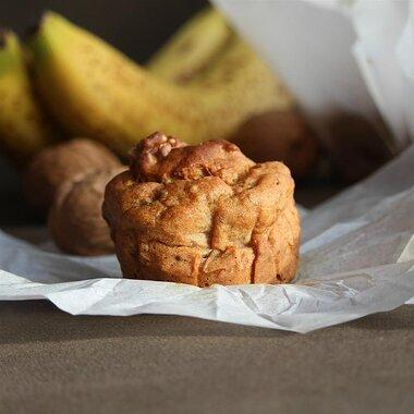 gluten free banana walnut chia muffins recipe