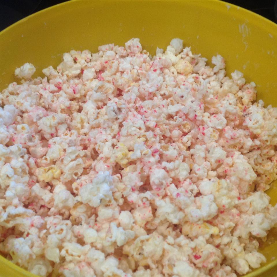 Candy Cane Popcorn sandys kitchen
