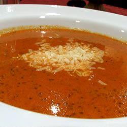 Cream of Tomato Soup with Pesto DEBORAHM4