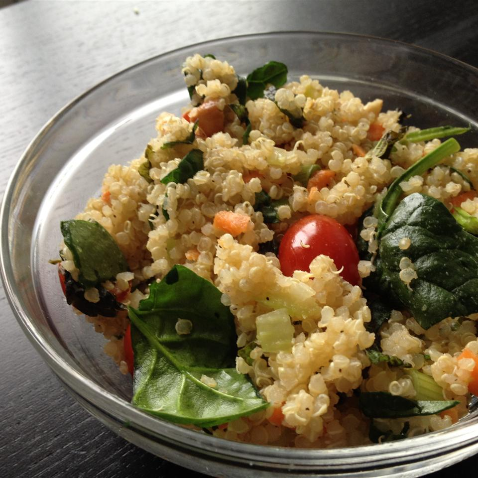 Quinoa Salad with Mint, Almonds and Cranberries Pingie Ping