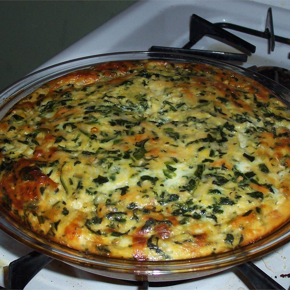 Spinach and Spaghetti Squash Quiche passerby1214