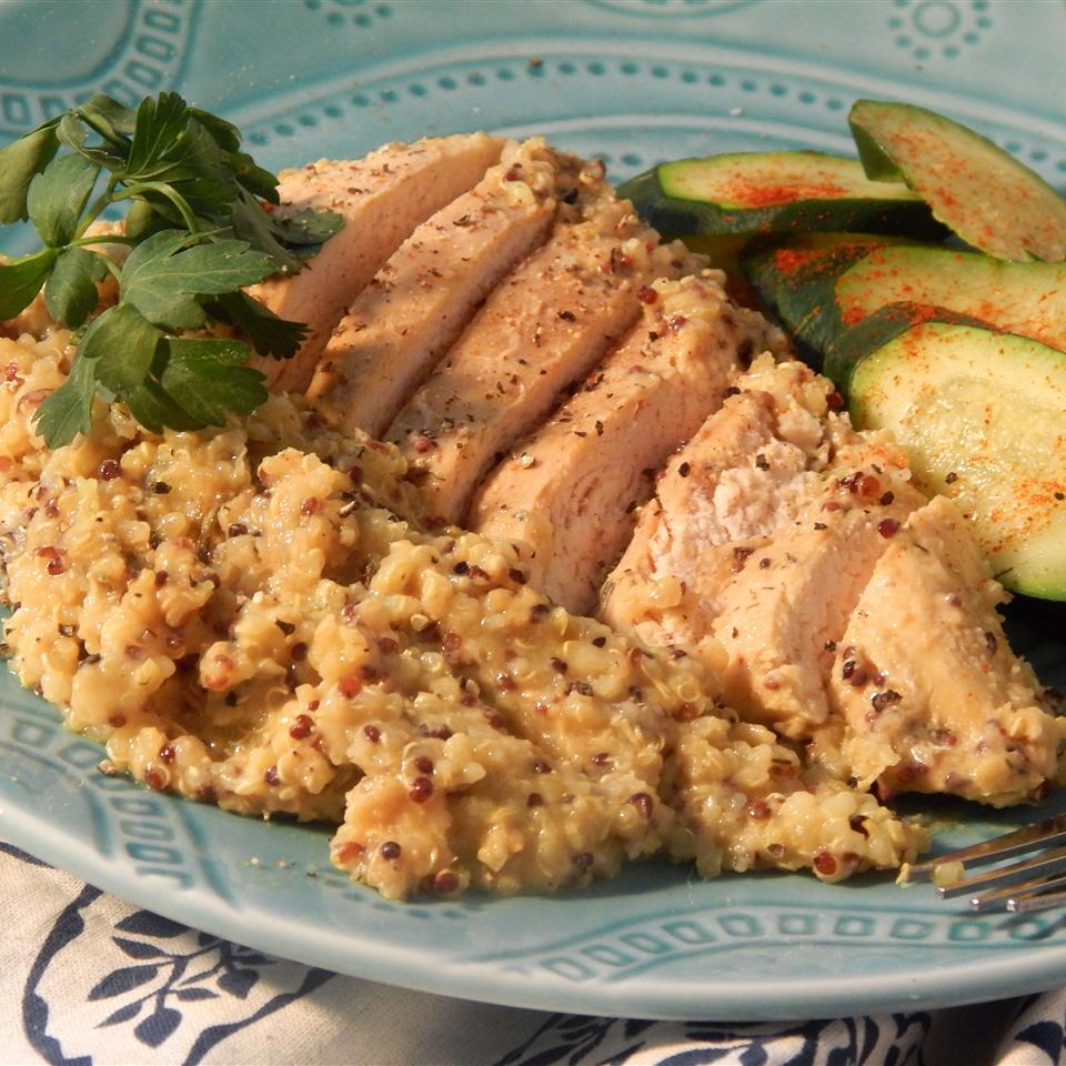 Quinoa and Honey Mustard Chicken Slow Cooker Meal