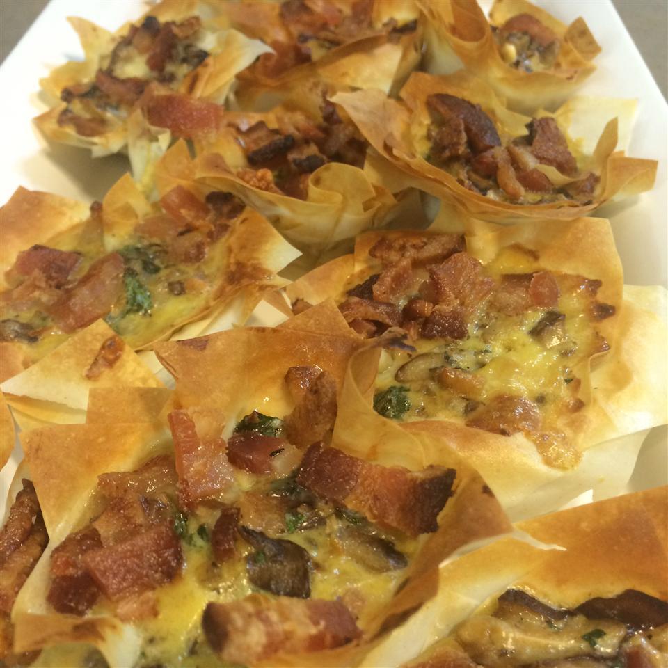 Chanterelle Mushroom and Bacon Tartlets Dean Palmiere