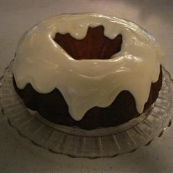 Holiday Pumpkin Cake with Rum-Cream Cheese Glaze lace
