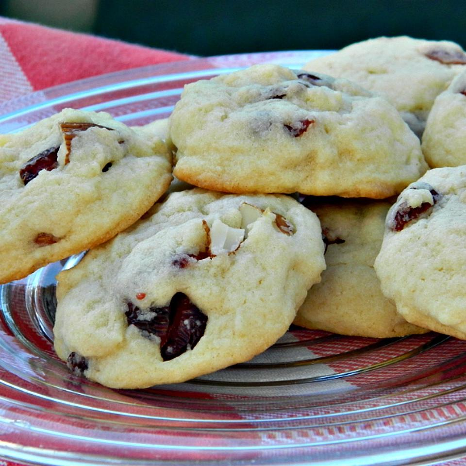 Soft Sugar Cookies With White Chocolate, Almonds, and Cranberries Debbie Kohler