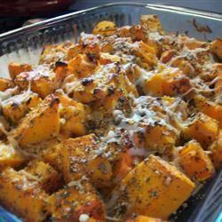 Garlicky Baked Butternut Squash xohwinnieox