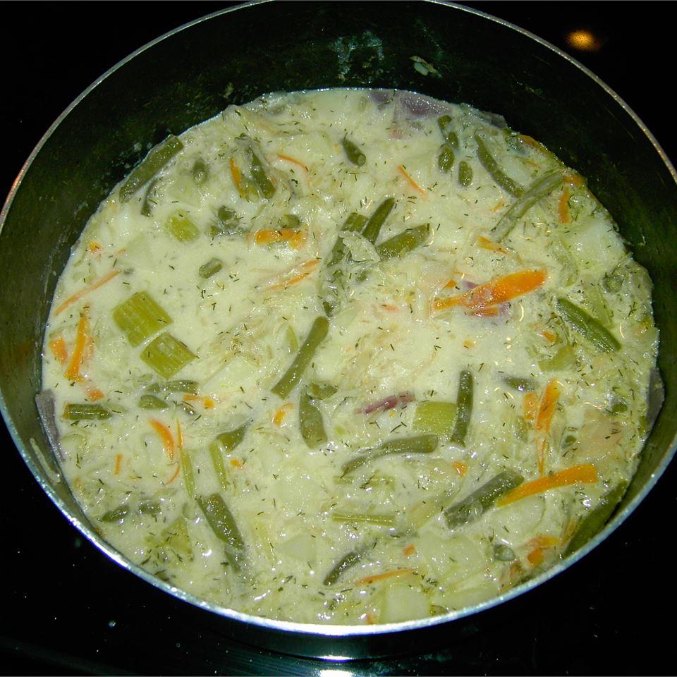 Russian Green Bean and Potato Soup
